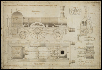 Improvements in the arrangement...of the parts of locomotive engines, 1841