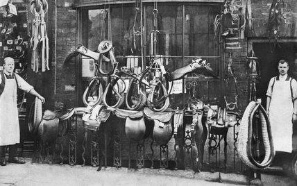 Chapman's Saddlers and Harness Makers Shop. West Yorkshire, Pontefract - c1912