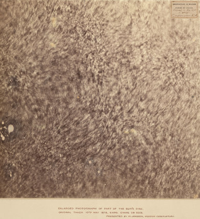 Enlarged photograph of the Sun's disc;original taken 10th May 1878.