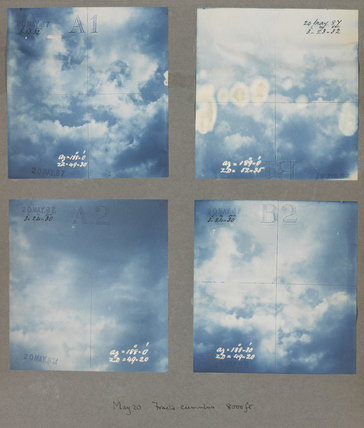 Fracto cumulus cloud formations taken at Kew Observatory in 1887.