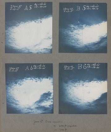 Cirrocumulus cloud formations taken at Kew Observatory in 1887.