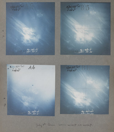 Cirrus cloud formations taken at Kew Observatory in 1887.