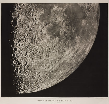 Illustration of the surface of the moon, prepared by Messrs Loewy and Guiseix, assisted by M. Le Morran