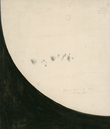 Group of Spots on the Sun, dated ' September 13, 1880'