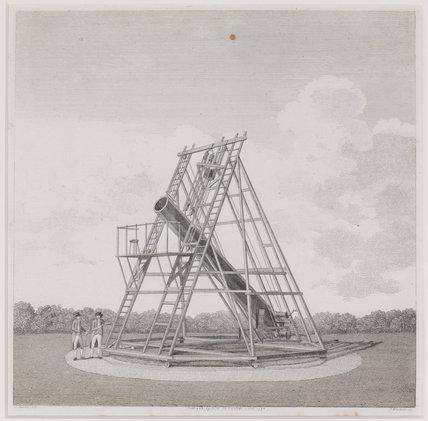 Engraving of Herschel's 20ft. telescope made in 1783.