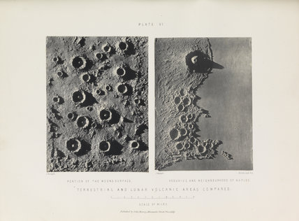 Plate VI, 'Terrestial and Lunar Volcanic Areas Compared'