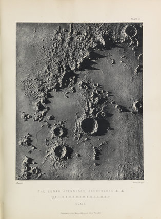 Plate IX, 'The Lunar Apennines, Archemedes [sic], &c., &c.'