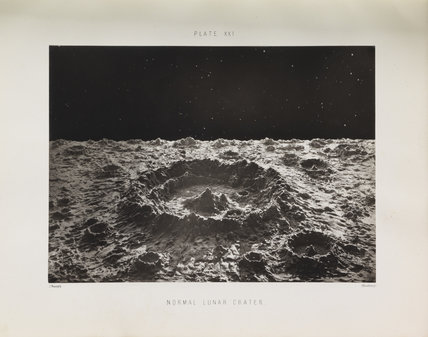 Plate XXI, 'Normal Lunar Crater'