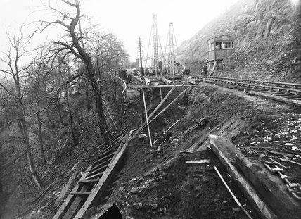 Landslip at Marple, 1893.