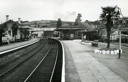 Lostwithiel station, July 1956