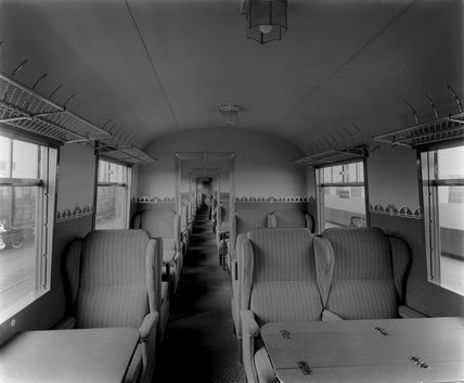 Third Class Carriage Interior, LNER  Streamlined Coronation