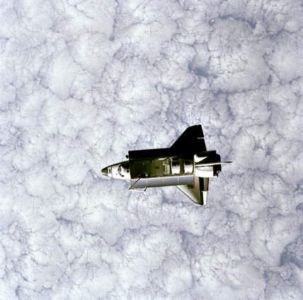 Challenger as seen from SPAS, 22nd June 1983
