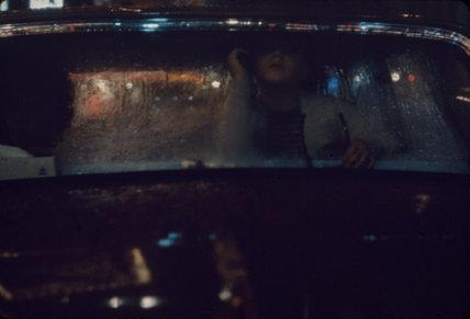 Car in the rain, New York