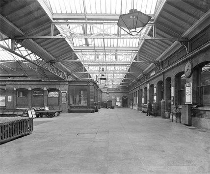 Inside North Wall station, Dublin, 1886