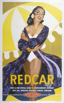 'Redcar', BR poster, 1960.
