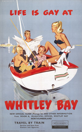 'Life is Gay at Whitley Bay', BR poster, 1960.