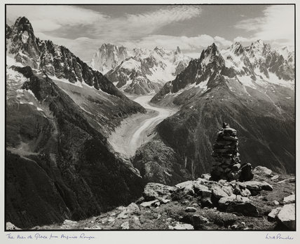 'The Mer de Glace from Aiguille Rouges', date unknown