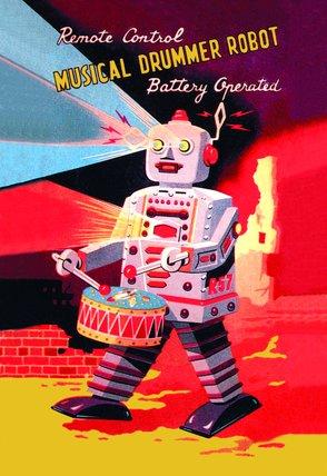 Musical Drummer Robot 1950