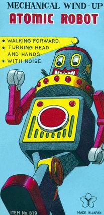 Mechanical Wind-Up Atomic Robot 1950