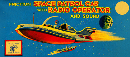Space Patrol Car with Radio Operator 1950