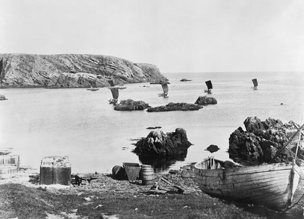 Fair Isle Skiffs off Meoness, 1897. at Science and Society Picture ...