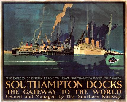 'Southampton Docks: the Gateway to the World', SR poster, 1931.
