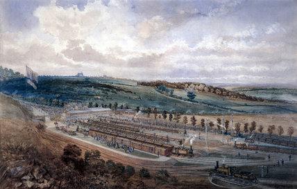 Epsom Station on Derby Day, 1878.