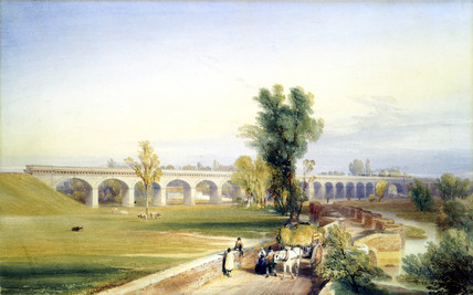 Dutch River Bridge, Hull and Doncaster Branch, North Eastern Railway, 1847.