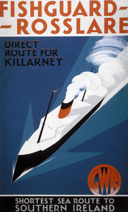 'Fishguard-Rosslare', GWR poster, 1932.