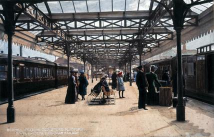 Bexhill Station Departure Platform, c 1905.