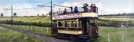 Electric train of the Burton & Ashby Light Railways, 1915.