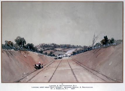 'London & Southampton Railway looking west near Whit Street...', 1837.