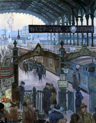 Liverpool Street Station, London, 1920s.