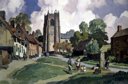 'Suffolk - Monks Eleigh (near Lavenham)', c 1950s.