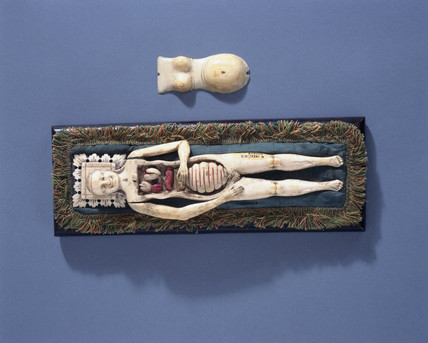 Ivory anatomical figure of a pregnant woman, 17th-18th century.