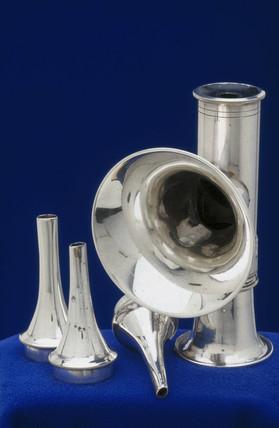 Silver auriscope, 1862-1900.