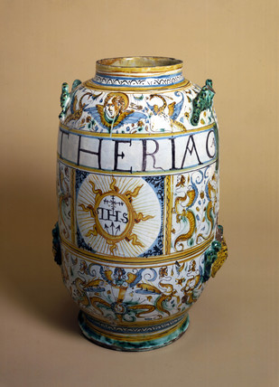 Italian pharmacy jar, 1641.