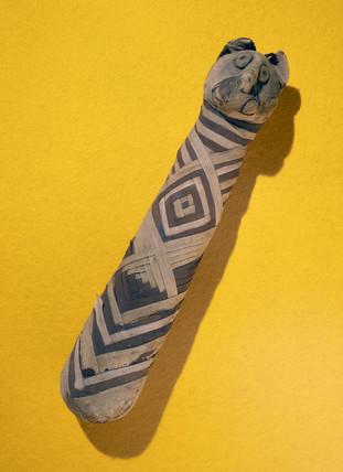 Ancient Egyptian mummified cat, 2000-100 BC.