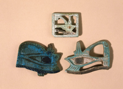 Ancient Egyptian eye amulets, 4000-30 BC.