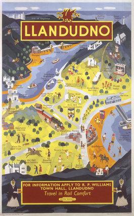 'Llandudno', BR poster, 1953.