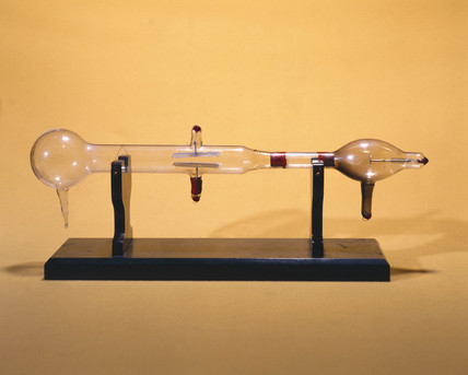 J J Thomson's cathode ray tube, 1897.