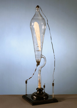 Crookes' cathode ray tube, late 19th century.