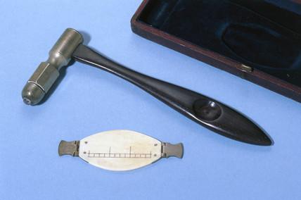 Percusor and pleximeter, 19th century.