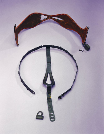 Two iron chastity belts, c 16th century.