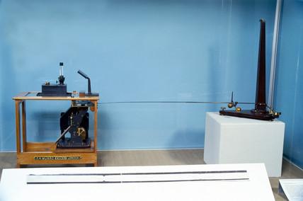 Milne horizontal pendulum seismograph, 1899.