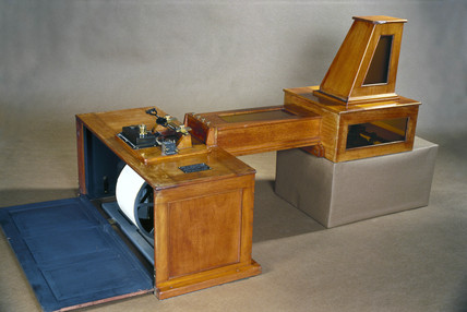 Milne double boom seismograph, 1908.