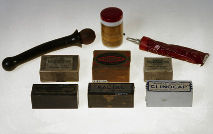 Spermicidal pesaries, ointment and jelly, early 20th century.
