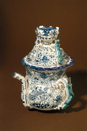 Poset pot, English, c 1700.