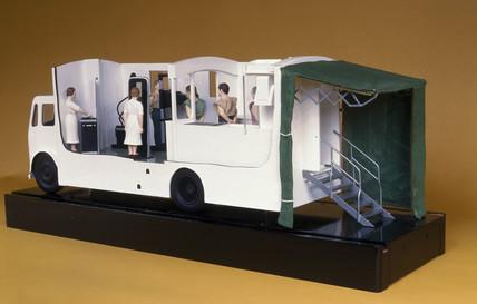 Mobile X-ray van, English, c 1955.