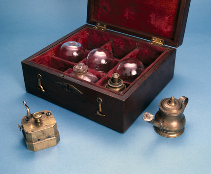 Cupping set used by Edward Jenner, late 18th century.